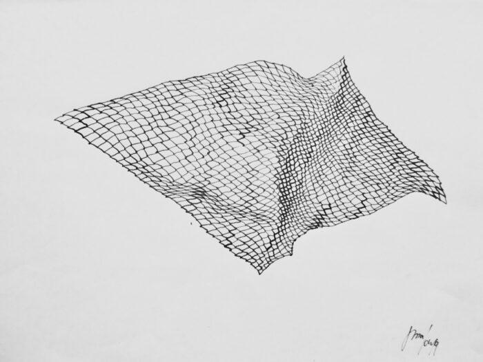 Merlen Melzow, Netz, Zeichnung 2020